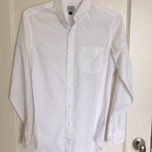 J Crew white shirt size slim small